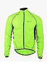 Nuckily Veste de Cyclisme Homme Manches longues Velo Etanche Pare-vent Zip frontal VestimentaireVeste Coupe-vent Impermeable/Poncho