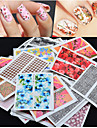 50st nagel konst Sticker Nagelsmycken / 3D Nagelstickers Blomma skönhet Kosmetisk nagel konst Design