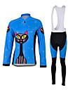 Sport Cykeltröja med Bib-tights Barns / Unisex Lång ärm CykelAndningsfunktion / Snabb tork / Vindtät / Anatomisk design / Ultraviolet