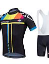 Fastcute® Maillot et Cuissard a Bretelles de Cyclisme Femme / Homme / Unisexe Manches courtes VeloRespirable / Sechage rapide /