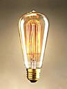 25W Edison ST64 rak tråd glödlampor till salu Edison art dekoration ljus