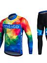 Miloto Maillot et Cuissard Long de Cyclisme Femme Homme Unisexe Manches longues VeloPantalon/Surpantalon Survetement Maillot Collants