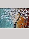 Peint a la main Abstrait / A fleurs/Botanique Peintures a l\'huile,Modern / Classique / Pastoral / Style europeen Un Panneau ToilePeinture