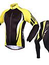 Sport Cykeljacka och byxa Herr Lång ärm Cykel Andningsfunktion Håller värmen Solskyddskräm Bekväm Klädesset/Kostymer Terylen Ull LYCRA®