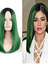 Capless peruker Peruker för kvinnor Grön kostym peruker cosplay peruker