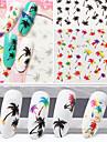 1st nagel konst Sticker Vatten Transfer Dekaler skönhet Kosmetisk nagel konst Design