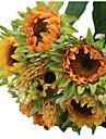 1 bouquet/Set 5 ramură Mătase / Plastic Floarea soarelui Față de masă flori Flori artificiale 3.3 inch X 10 inch