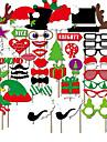 50pcs accessoires photo decorations de noel casquette de noel ; levres rouges ; moustache