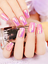 24pcs / set ongles bandes reflexions multiples effets cellophane douce vogue