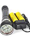 Belysning LED-Ficklampor Dykficklampor Ficklampor LED 8000 Lumen 3 Läge XM-L2 U2 26650 Vattentät SuperlättCamping/Vandring/Grottkrypning
