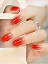 24pcs gradient tete ronde ongles bandes mode et elegant temperament beaute 1set