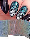 1pcs Nail Sticker Art Diecut Manucure Pochoir Maquillage cosmetique Nail Art Design