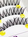 Cils Cil Cils Entiers Yeux Croises / l\'Extremite Est Plus Longue Cils courbes Fait a la main Fibre Transparent Band 0.10mm 12mm