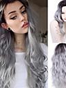 mode degrade perruque grise bon marche perruques de cheveux naturels longue perruque synthetique boucles pour les femmes 26 perruques