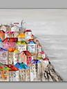 HANDMÅLAD Abstrakt / Landskap olje~~POS=TRUNC,Moderna / Klassisk En panel Kanvas Hang målad oljemålning For Hem-dekoration