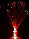 fibre luminescente petite lumiere de nuit conduit bougies colorees rose couleur aleatoire