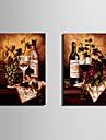 Vintage Canvastryck Två paneler Redo att hänga , Vertikal