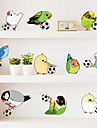 Animale / Modă / Timp Liber Perete Postituri Autocolante perete plane Autocolante de Perete Decorative,PVC Material DetașabilPagina de