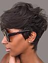 perruques naturelles ondulees courtes humaines de cheveux pour femme noire