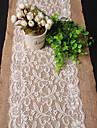 Rectangulaire Brode Chemins de table , Lin/Viscose Materiel Decoration Soiree Mariage Mariages