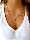 Necklace Pendant Necklaces Jewelry Halloween / Party / Daily / Casual Double-layer Alloy Gold / Silver 1pc Gift