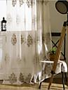 Deux Panneaux Le traitement de fenetre Europeen , Fleur Chambre a coucher Polyester Materiel Rideaux opaques Decoration d\'interieur For