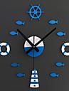 Moderne/Contemporain Animaux / Vacances / Inspire / Famille / Dessin anime Horloge murale,Rond / Nouveaute Acrylique / Verre