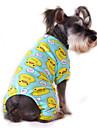 Pisici Câini Salopete Pijamale Îmbrăcăminte Câini Iarnă Primăvara/toamnă Desene Animate Drăguț Casul/ZilnicGalben Rosu Albastru Roz
