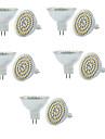 6W GU5.3(MR16) LED-spotlights MR16 60 SMD 3528 550-600LM lm Varmvit / Kallvit Dimbar / Dekorativ V 10 st