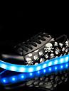 Unisexe-Exterieure / Decontracte / Sport-Noir-Talon Bas-Confort-Sneakers-Cuir