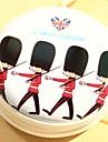 Voyage cartoon metal soldats britanniques changent casque boite de rangement (couleur aleatoire)