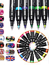 16Pcs/Lot Kits Nail Art Nail Art Kit outil de manucure Maquillage cosmetique Art Nail DIY