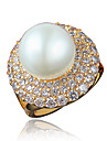 Inel Perle Placat Auriu 18K de aur Auriu Alb Bijuterii Nuntă Petrecere Zilnic Casual 1 buc