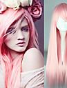 80cm longue ligne droite lolita synthetique perruque rose pour les filles chaleur perruque resistante cosplay ou pas cher quotidienne