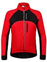 Wosawe® Veste de Cyclisme Unisexe Manches longues Velo Etanche / Garder au chaud / Pare-vent / Doublure Polaire / Pocket RetourShirt /