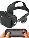 noir ecouteur integre casque de realite virtuelle pour 4/7 a 6/2 pouces smartphone avec gamepad telecommande bluetooth