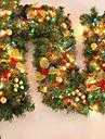 Feliz Navidad de caa de RATN navidad verde wreathoriginal de navidad guirlande partido decoracin de RATN pvc ornamento