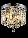 Modern Crystal With Chrome Metal Round Circle Ceiling Chandelier