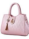 Femme Polyurethane Formel / Decontracte / Exterieur / Bureau & Travail / Shopping Cabas Blanc / Rose / Violet / Bleu / Noir