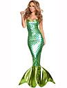 Mermaid Coada DinBasme Festival/Sărbătoare Costume de Halloween Verde Solid RochieHalloween Crăciun Carnaval Zuia Copiilor An Nou