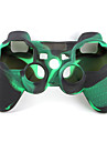 caz de protecție silicon stil dual-culoare pentru PS3 controler (verde armata și negru)