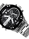Bărbați Ceas Militar Ceas Elegant Ceas La Modă Ceas de Mână Quartz Calendar Zone Duale de Timp Punk Aliaj Bandă Charm Cool Casual Luxos