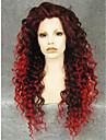 imstyle 26\'\'drag reine melange rouge longues perruques avant de dentelle synthetique boucles chaleur cosplay resistant