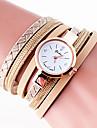 Women\'s Fashion Watch Wrist watch Bracelet Watch Quartz Colorful PU Band Vintage Bohemian Charm Bangle Cool CasualBlack White Blue Grey
