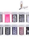 10pcs nail foils+1pcs nail foil glue - Autocollants 3D pour ongles - Doigt / Orteil - en Fleur - 4cmX100cm each piece