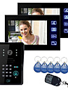 "Atingeți cheie 7 ""LCD Video Door Phone Interfon Sistem Wth IR Camera & Cod tastatura 1V2"