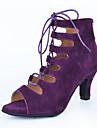 Chaussures de danse(Noir / Bleu / Violet / Rouge) -Personnalisables-Talon Bottier-Similicuir-Latine / Jazz / Baskets de Danse / Moderne