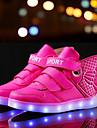 Băieți Adidași Confortabili Pantofi Usori Piele Primăvară Vară Toamnă Iarnă De Atletism Casual Dantelă LED Toc Jos Auriu Alb Albastru Roz