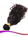 """1 pcs beaucoup 8 """"-30"""" vague naturelle trames de cheveux vierges bresiliens brun fonce 2 # faisceaux ondulees de tissage de cheveux"""