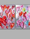 Peint a la main Abstrait Peintures a l\'huile,Modern / Classique Deux Panneaux Toile Peinture a l\'huile Hang-peint For Decoration